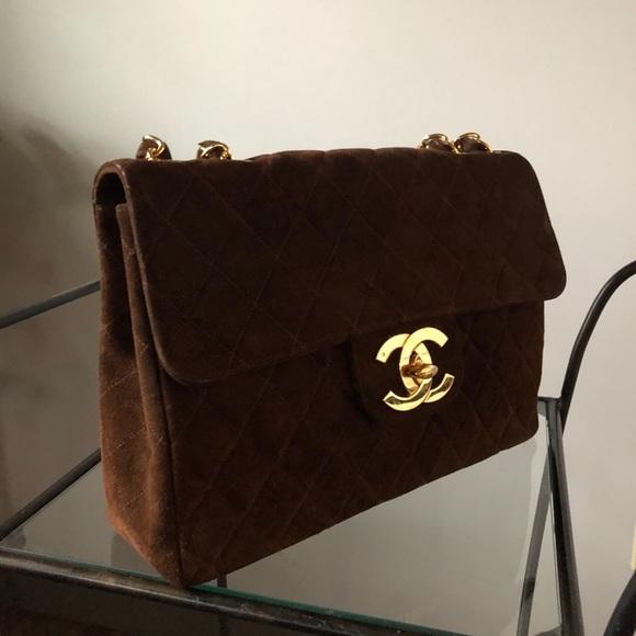 f19782b3d23c CHANEL Handbags - RARE Authentic Maxi XL Jumbo Suede CHANEL Bag